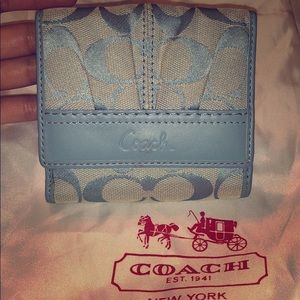 Authentic coach wallet and dust bag